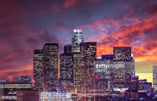 downtown los angeles - hollywood california stock photos and pictures