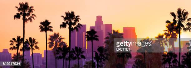 downtown los angeles - de stad los angeles stockfoto's en -beelden