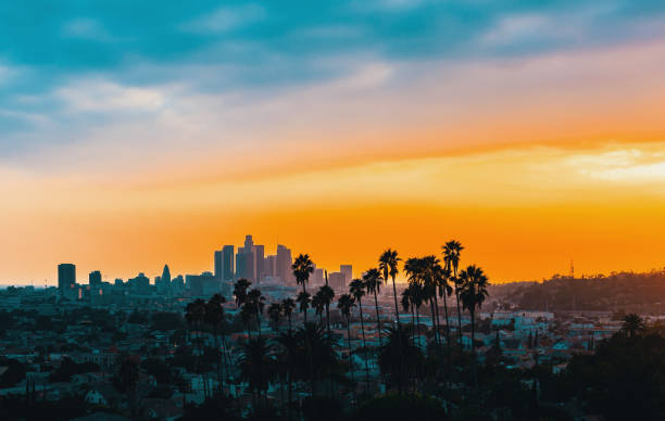 Downtown Los Angeles Skyline Sunset - Fine Art prints