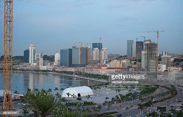 Downtown Luanda beach on March 26 2014 in Luanda Angola