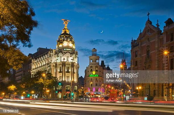 Downtown Madrid at night