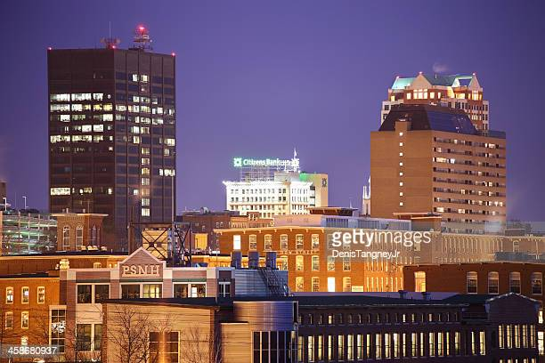 downtown manchester, new hampshire - manchester new hampshire stock pictures, royalty-free photos & images