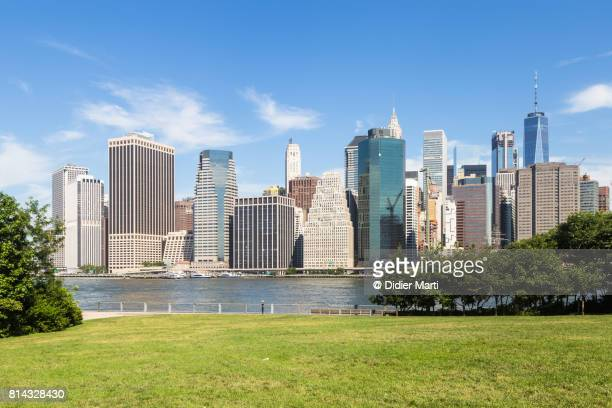 Downtown Manhattan financial district in New York City, USA