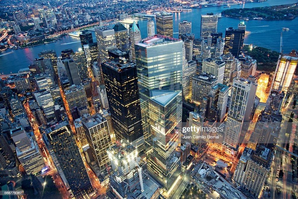 Downtown Manhattan in New York City : Stock Photo