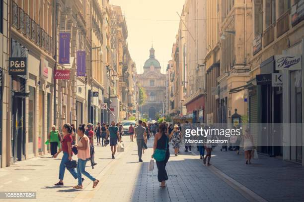 downtown marseille - pedestrian zone stock pictures, royalty-free photos & images