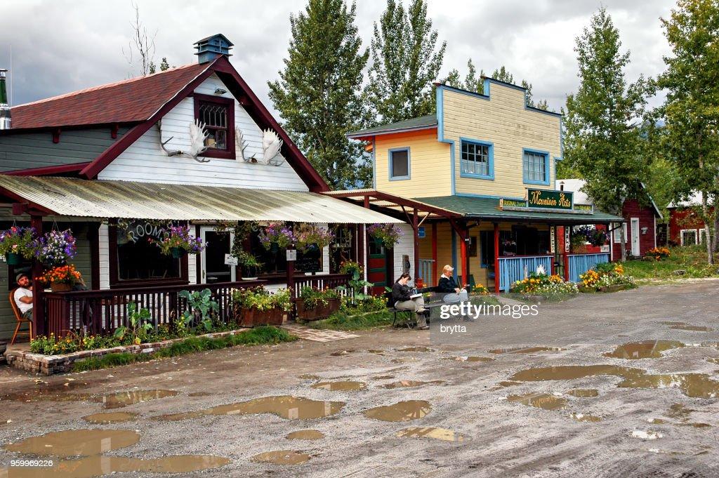 Innenstadt von McCarthy, Alaska : Stock-Foto