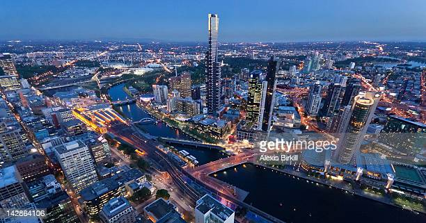Downtown Melbourne at dusk