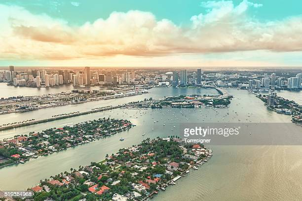 Downtown Miami and some of the Biscayne Bay Islands