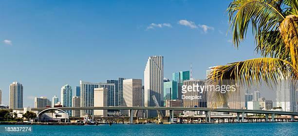 Downtown Miami City Skyline In Florida USA