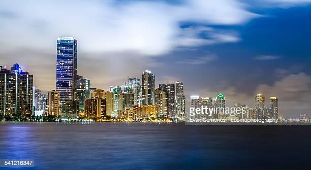 Downtown Miami Skyline at Night