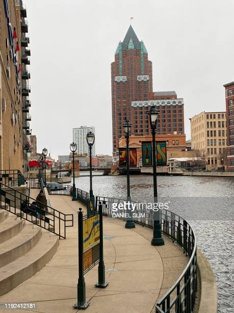 Downtown Milwaukee Wisconsin on January 7 2020 The 2020 Democratic National Convention in which delegates of the United States Democratic Party will...