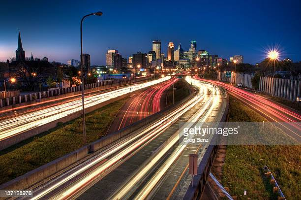 Downtown Minneapolis at night