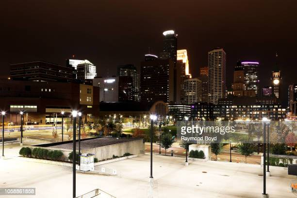 Downtown Minneapolis, photographed from the U.S. Bank Stadium ramp in Minneapolis, Minnesota on October 14, 2018.