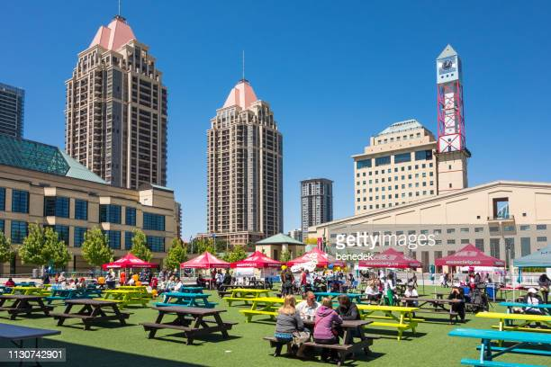 downtown mississauga ontario canada - mississauga stock pictures, royalty-free photos & images