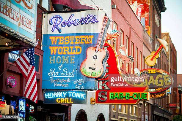 downtown nashville music entertainment establishments - ナッシュビル ストックフォトと画像