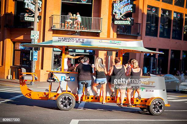 Downtown Nashville party bike in Lower Broadway District