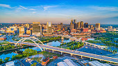 Downtown Nashville, Tennessee, USA Aerial