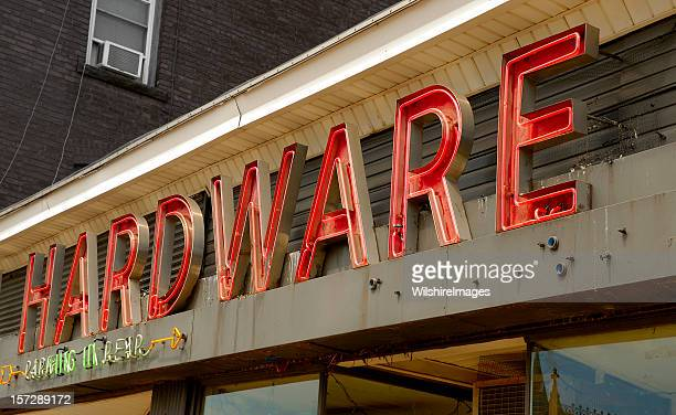 Downtown Neon Hardware Store Sign