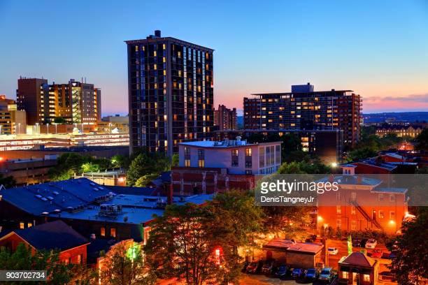 都心のニューヘブン、コネチカット州のスカイライン - ニューヘイブン ストックフォトと画像