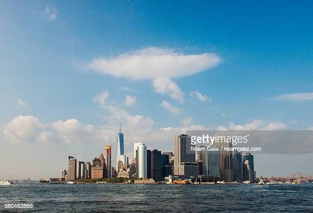 downtown new york city skyline - noam galai stock pictures, royalty-free photos & images