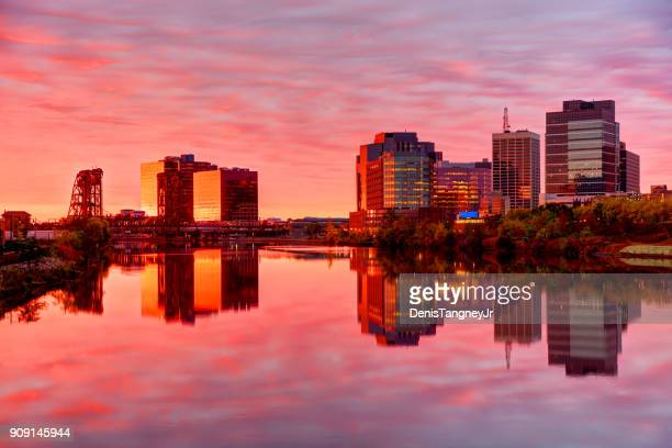 downtown newark, new jersey skyline - newark new jersey stock photos and pictures