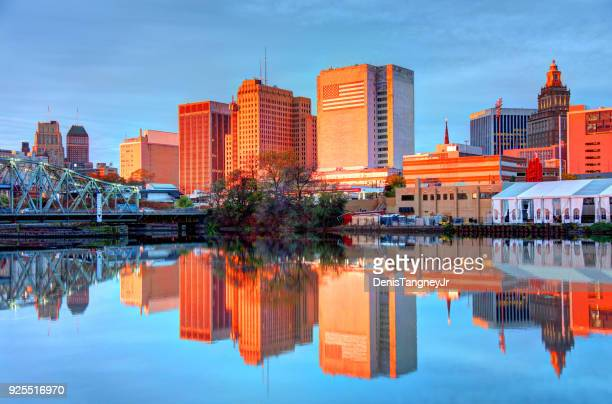 downtown newark, new jersey skyline - new jersey stock pictures, royalty-free photos & images