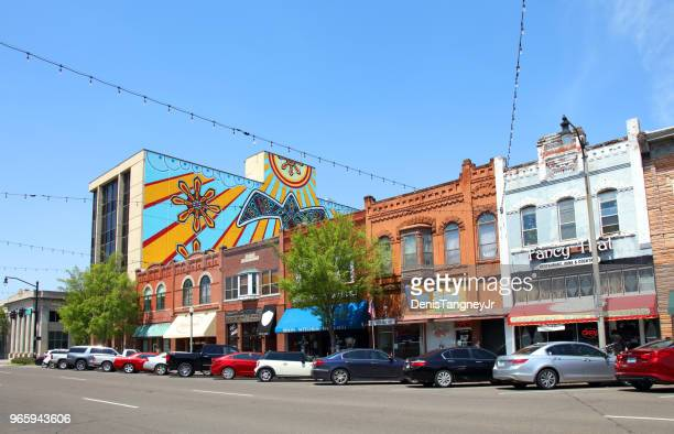 downtown norman oklahoma - oklahoma stock pictures, royalty-free photos & images