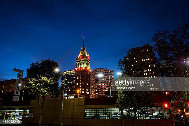 Downtown Oakland at night