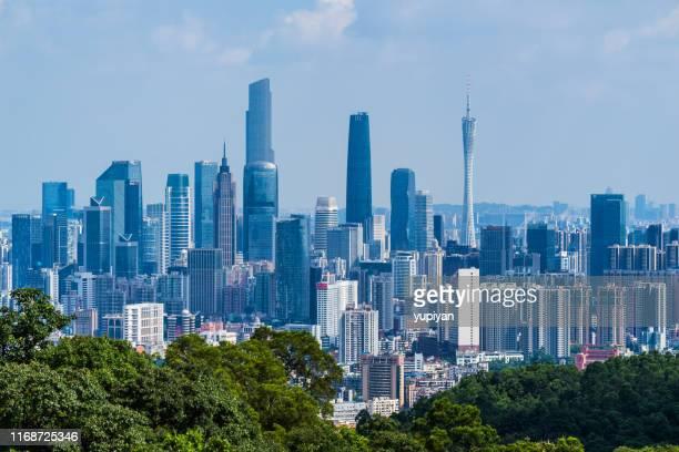 centro da cidade de guangzhou - província de guangdong - fotografias e filmes do acervo