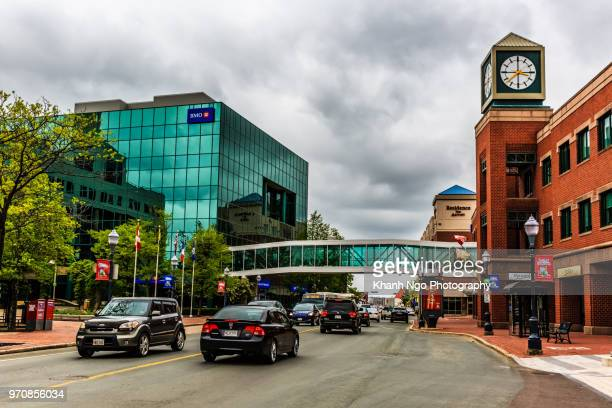 downtown of moncton city - khanh ngo stock pictures, royalty-free photos & images