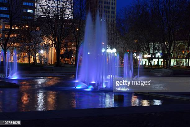 Downtown Park at Night