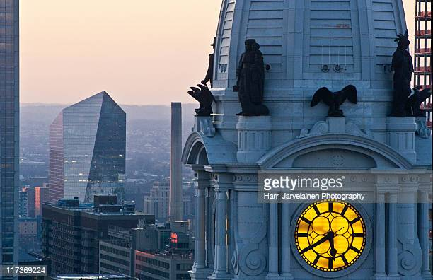 downtown philadelphia - town hall government building stock pictures, royalty-free photos & images