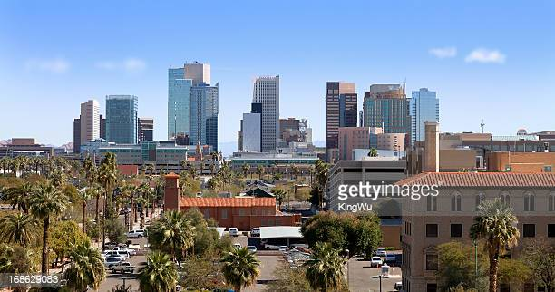 downtown phoenix, arizona - phoenix arizona stock photos and pictures