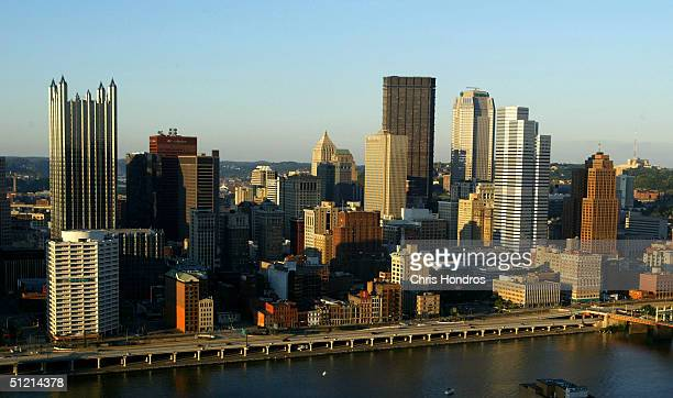 Downtown Pittsburgh is seen August 24 2004 in Pittsburgh Pennsylvania The Heinz corporation based in Pittsburgh once was one of the former industrial...