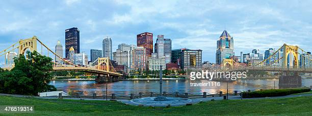 downtown pittsburgh, pennsylvania - pittsburgh stock pictures, royalty-free photos & images