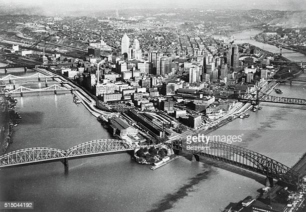 Downtown Pittsburgh where the Monongahela River meets the Allegheny River to form the Ohio River Photo Onethe new Pittsburgh