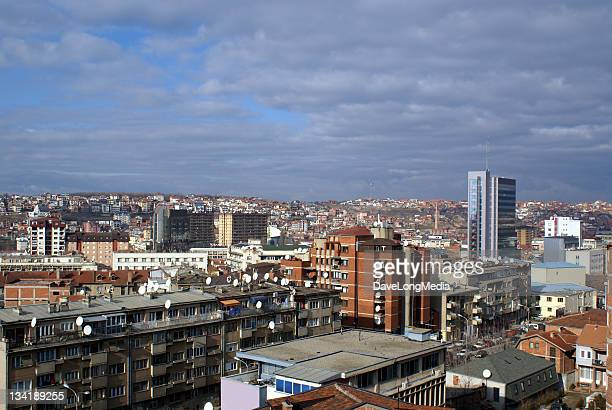 downtown prishtina - kosovo - kosovo stock pictures, royalty-free photos & images