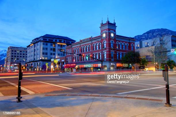 downtown provo, utah - provo stock pictures, royalty-free photos & images