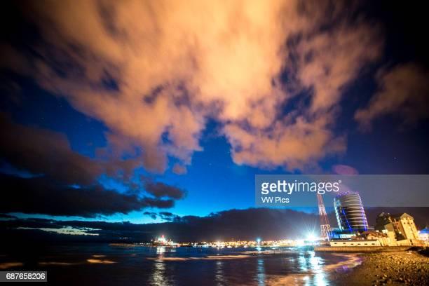 Downtown Punta Arenas Chile at night