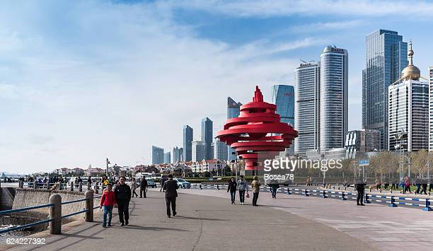 Downtown Qingdao seen from May Forth square