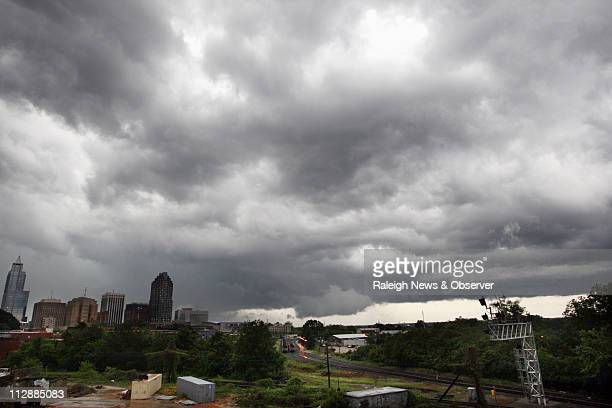 Downtown Raleigh emerges from the clouds after a powerful storm passed through May 5 2009