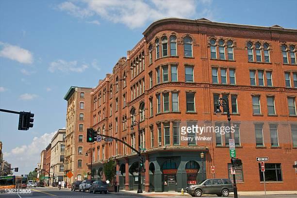 downtown red brick architecture. - スプリングフィールド ストックフォトと画像