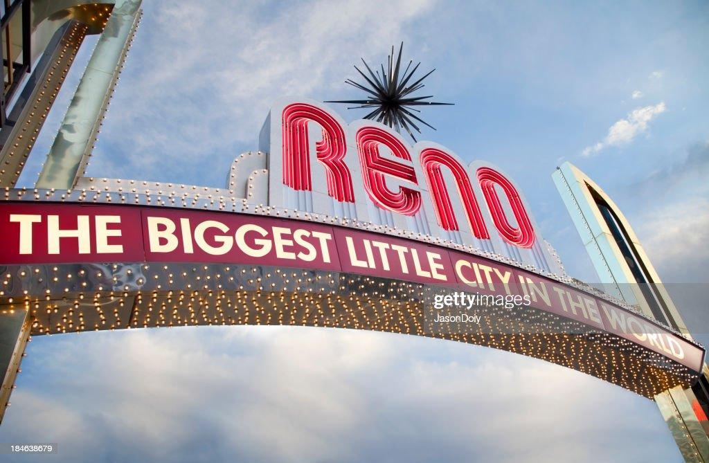 Downtown Reno Sign : Stock Photo