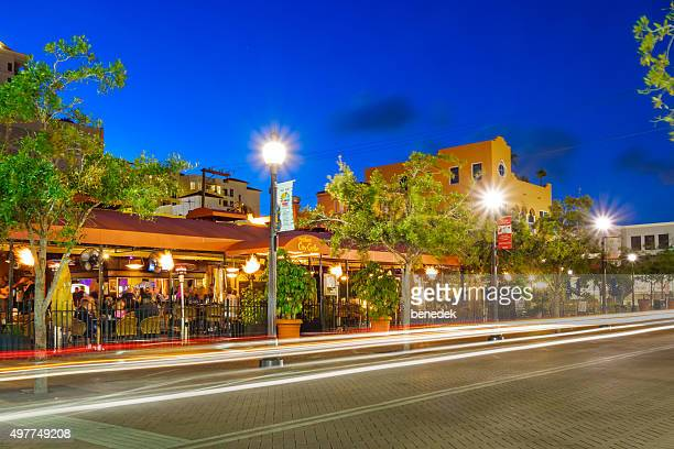 downtown restaurant sarasota florida usa people dining - sarasota stock photos and pictures