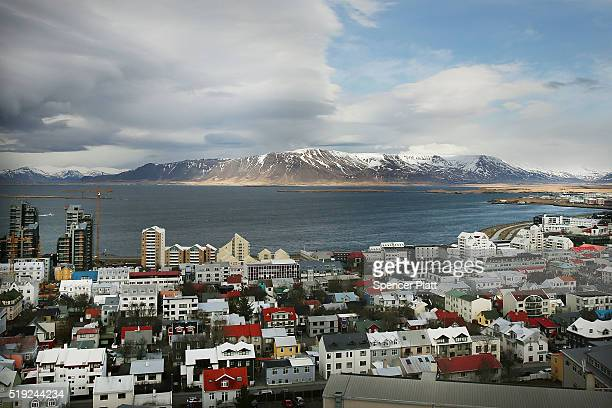 Downtown Reykjavik sits in the afternoon light following the government shakeup in the wake of the Panama Papers crisis on April 5 2016 in Reykjavik...