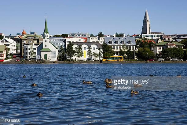 Reykjavík, Islandia centro de la ciudad