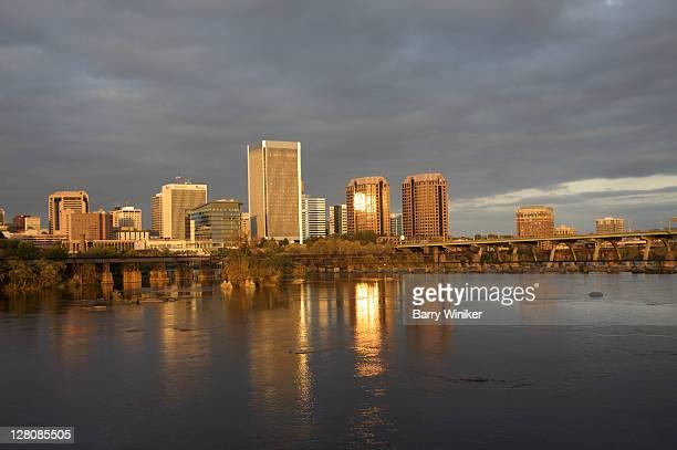 Downtown Richmond, seen from Belle Isle, VA, U.S.A.