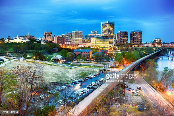 downtown richmond, virginia - richmond virginia stock pictures, royalty-free photos & images