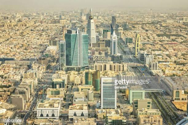 centro de riade arábia saudita - riyadh - fotografias e filmes do acervo