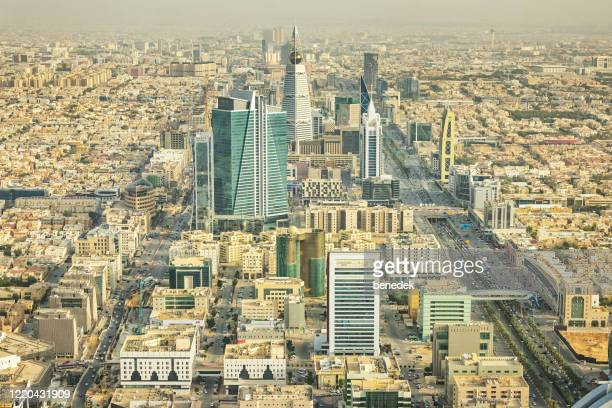 downtown riyadh saudi arabia - riyadh stock pictures, royalty-free photos & images